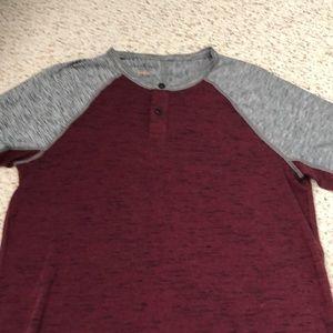 Men's American Eagle SS Henley Shirt - S